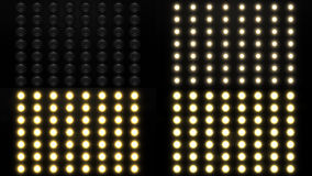 Realistic Flood Lights. Rendered in four variations Royalty Free Stock Images