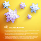 Realistic flower background Stock Photo
