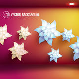 Realistic flower background Stock Photography