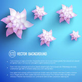 Realistic flower background Royalty Free Stock Images