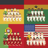 Realistic Football ομάδας Γ Στοκ Εικόνα