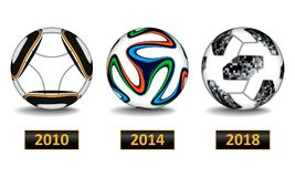 Realistic football ball. World cup set Stock Photo