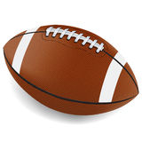 Realistic Football Illustration. A realistic illustration of an American football on a white background. Vector EPS 10 available. EPS file contains vector illustration