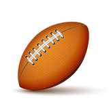 Realistic Football or Rugby Ball Icon Royalty Free Stock Photos