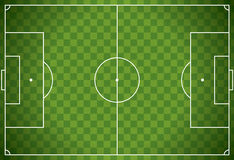 Realistic Football - Soccer Field Illustration Royalty Free Stock Photos