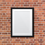 Realistic frame. Perfect for your presentations. Vector illustra Stock Photo