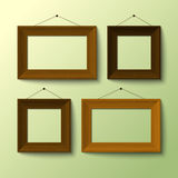 Realistic frames for picture or photo Royalty Free Stock Photo