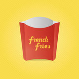 Realistic French Fries red Paper Box Royalty Free Stock Photo