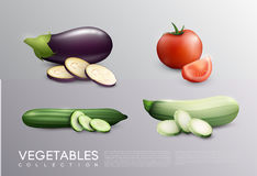 Realistic Fresh Vegetables Set Royalty Free Stock Image
