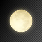 Realistic full moon on transparent background. Eps10 vector illustration, easy to use vector illustration