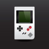 Realistic game boy. Realistic vector image game boy on a dark background Stock Photo