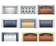 Realistic Garage Doors Set Stock Image