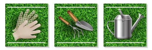 Realistic Gardening And Seeding Elements Set vector illustration