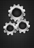 Gearwheel. Realistic Gearwheel. Illustration on black for design Royalty Free Stock Images