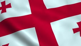 Realistic Georgia flag. Waving in the wind Royalty Free Stock Images