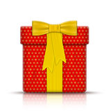 Realistic Gift Box Wrapped by Paper. Royalty Free Stock Images