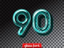 Realistic glass alphabet font Royalty Free Stock Photos