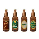 Glass beer bottles royalty free illustration