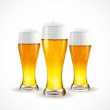 Realistic glass of beer. Vector illustration.  Royalty Free Illustration