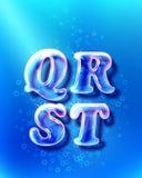 Realistic glass font Stock Photo