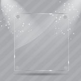 Realistic glass frames. Vector illustration Royalty Free Stock Images