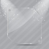 Realistic glass frames. Vector illustration Stock Photo