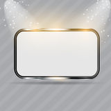 Realistic glass frames. Vector illustration Royalty Free Stock Photography