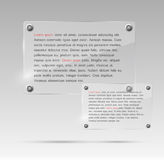 Realistic Glass Frames. Vector Illustration Stock Photography