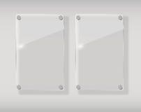 Realistic Glass Frames. Vector Illustration Stock Photos