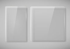 Realistic Glass Frames Royalty Free Stock Images