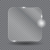 Realistic glass frames. Vector illustration Stock Image