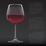 Realistic glass of red wine Royalty Free Stock Photos