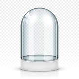 Realistic glass showcase Stock Photography