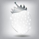 Realistic glass strawberry. Vector illustration. Royalty Free Stock Image