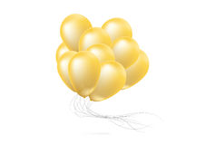 Realistic glossy balloons Stock Image