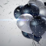 Realistic glossy balloons Royalty Free Stock Photo