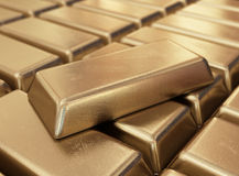 Realistic gold bars 3D Stock Images