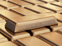 Realistic gold bars 3D Royalty Free Stock Photos