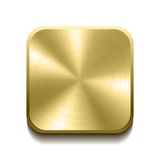 Realistic gold button Royalty Free Stock Image
