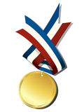 Realistic gold medal Royalty Free Stock Images
