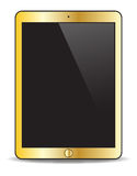 Realistic Gold Tablet Stock Image