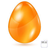 Realistic golden easter egg on white background. Vector illustra Stock Photos