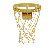 A realistic golden rendering of a basketball hoop (series) Stock Photo