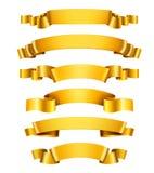 Realistic Golden Ribbons Stock Photos