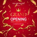 Realistic Grand Opening Invitation Pattern Stock Images