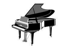 Realistic grand piano Royalty Free Stock Photos