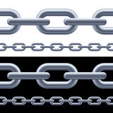 Realistic gray chain. On the white and black background. Illustration for designer Royalty Free Stock Image