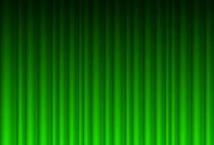 Realistic green curtain. Illustration for design stock illustration