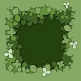 Realistic green layer paper cut clover background royalty free illustration