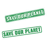 Realistic grunge rubber stamp Save our Planet Royalty Free Stock Photo